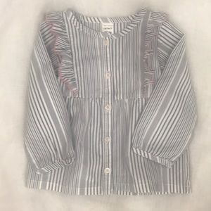 Carter's blue striped dress Size 18 mo